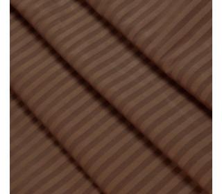 Постельное белье страйп-сатин ШОКОЛАД   (1,5сп с 1нав)
