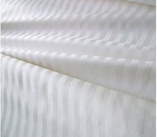 Наволочка страйп-сатин белая   (50х70)