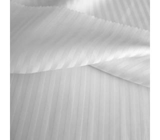 Постельное белье страйп-полисатин белый   (1,5сп с 1нав)